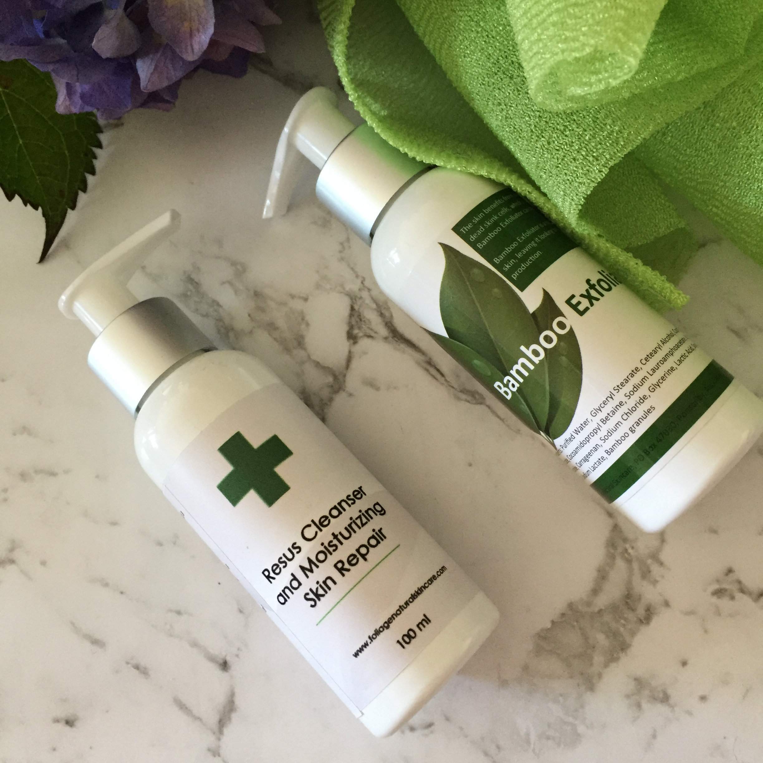Bamboo exfoliator and Resus
